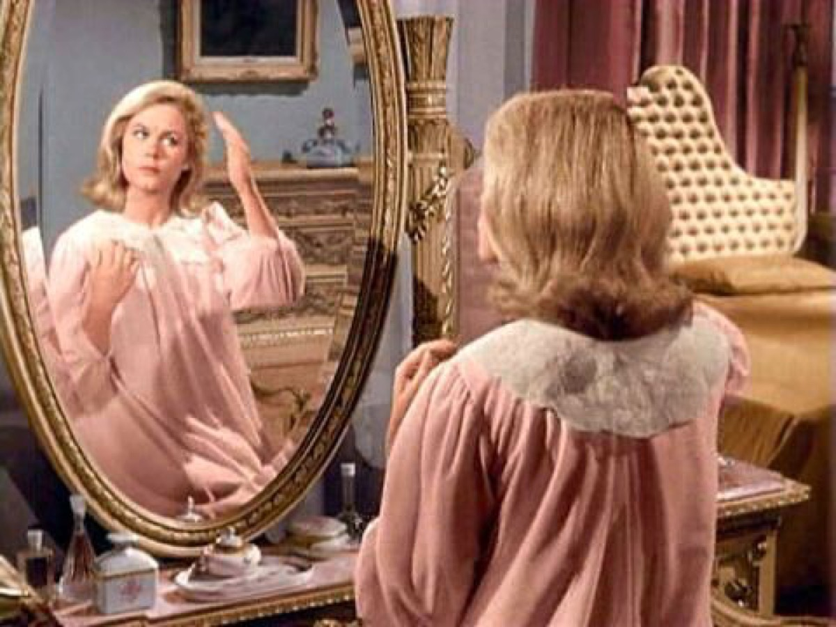 bewitched mirror vanity tv show still, 1970s home decor