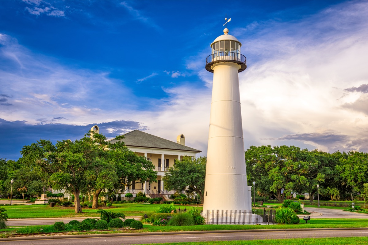 biloxi lighthouse in mississippi, iconic state photos