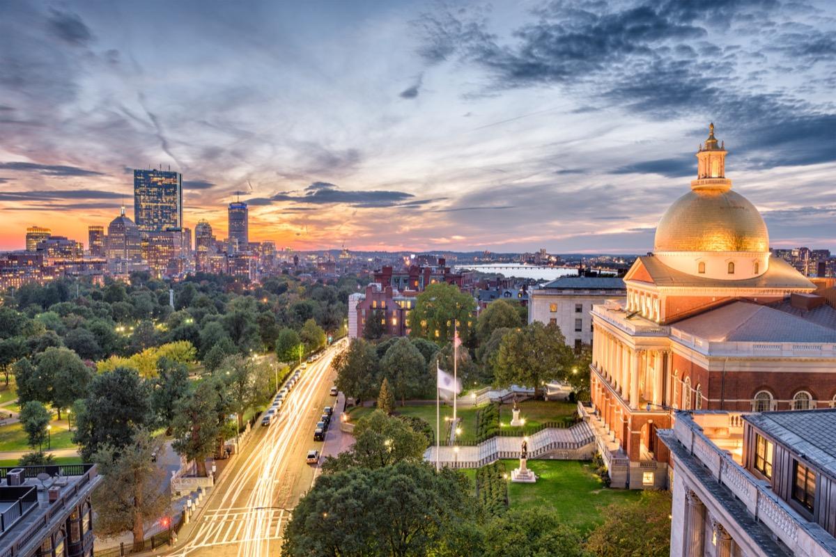 boston massachusetts state capitol buildings