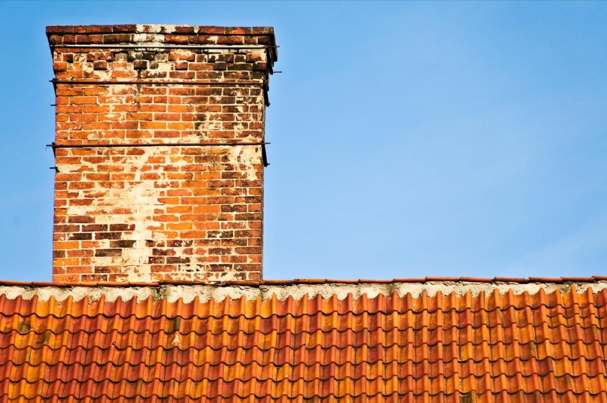 brick chimney efflorescence home problems