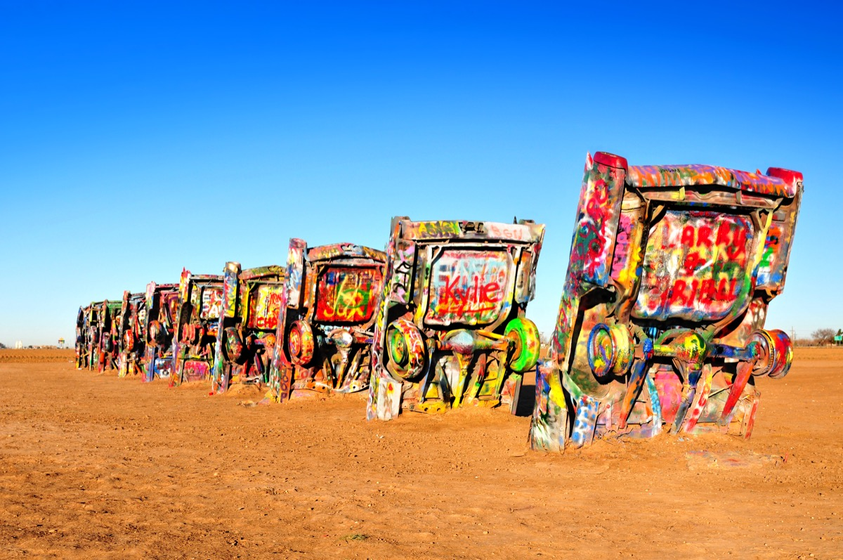 cadillac ranch texas, iconic state photos
