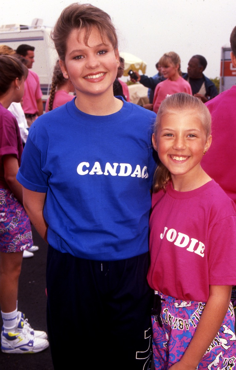candace cameron bure and jodie sweetin, vintage red carpet photos