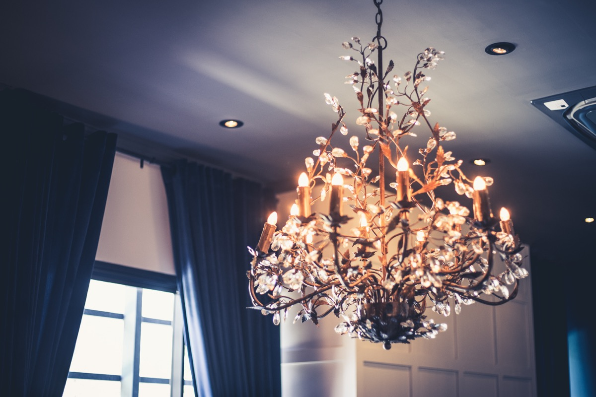 chandelier in the home