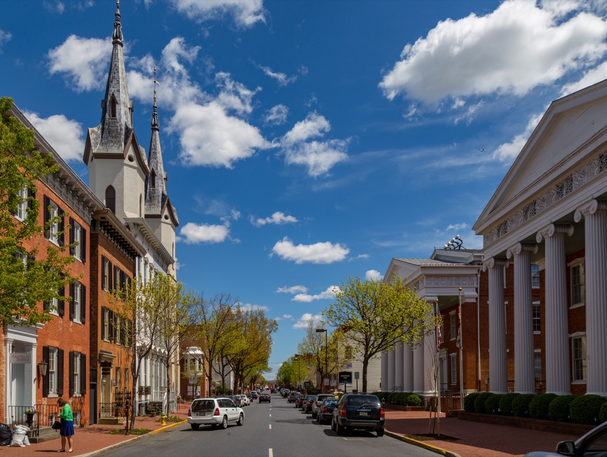 church street in frederick maryland, most common street names