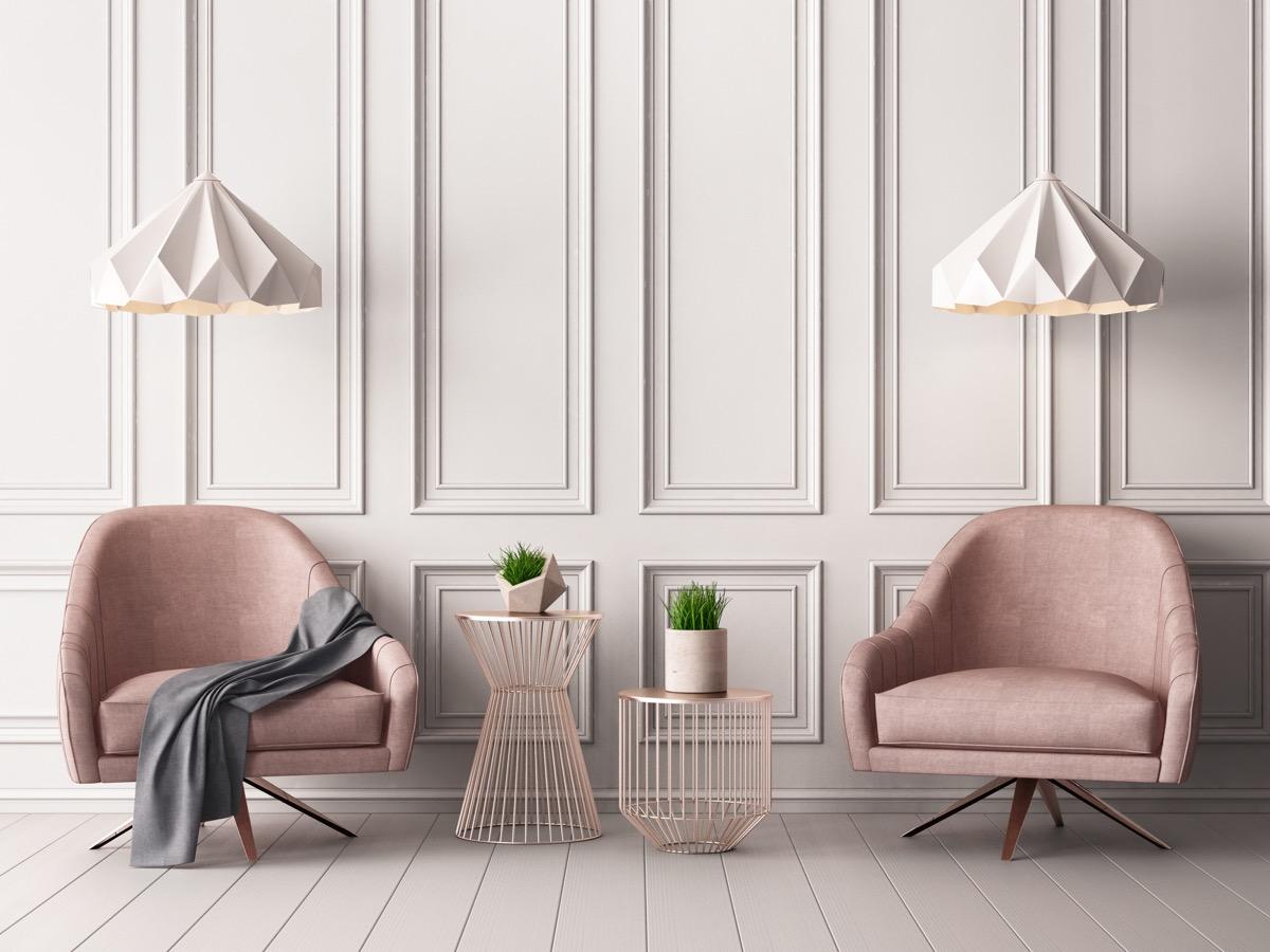 classic, yet modern living room