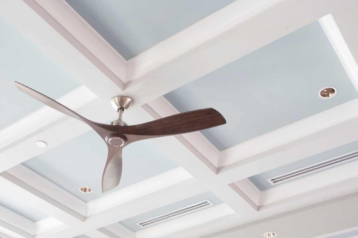 coffered ceiling, vintage home upgrades
