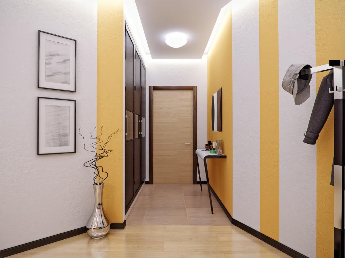 patterned color hallway