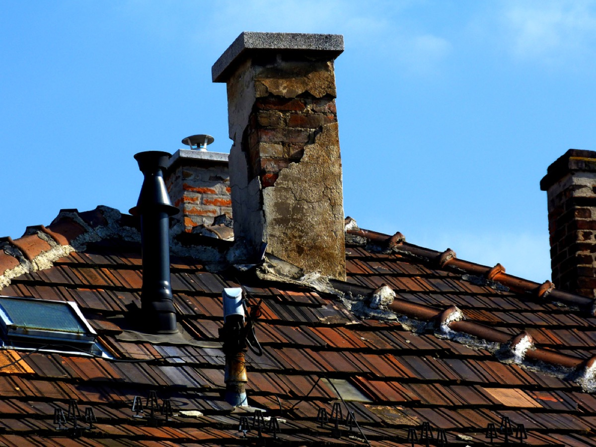 cracked chimney roof cap home problems