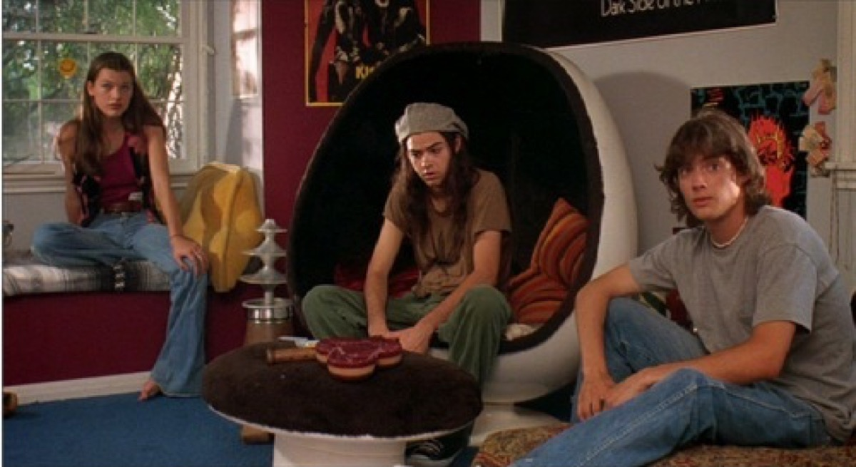 dazed and confused egg chair movie still, 1970s home decor