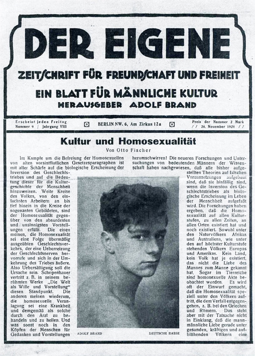 der eigene first gay periodical famous LGBTQ firsts