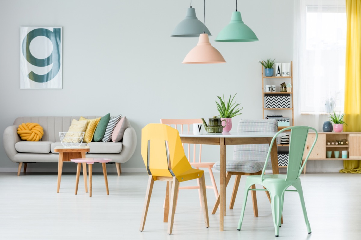 mismatched chairs interior design tips