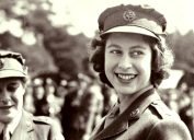 During World War II, the then Princess Elizabeth joined Women's Auxiliary Territorial Service, she received rank promotion to Junior Commander.