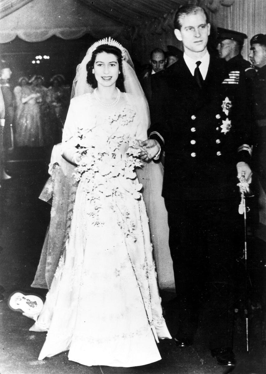 Elizabeth II and Prince Philip on their wedding day in 1947