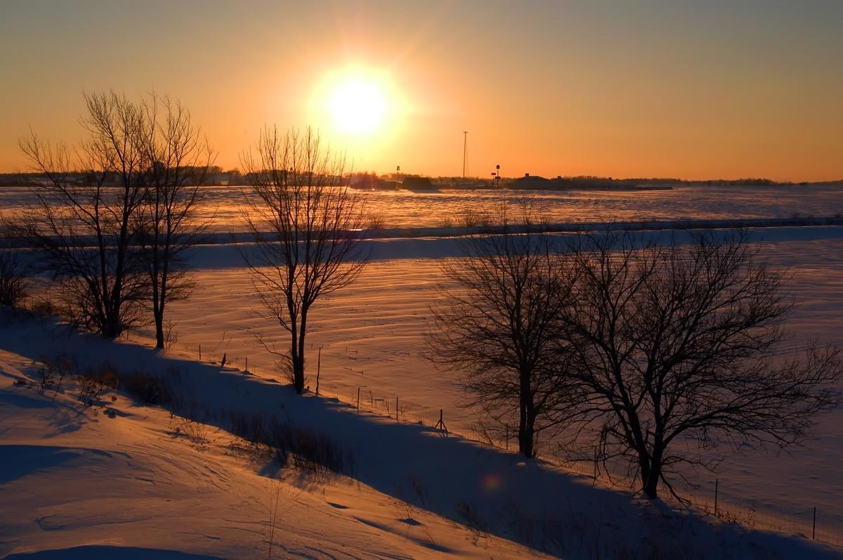 evansville indiana snow scene, heart attack cities