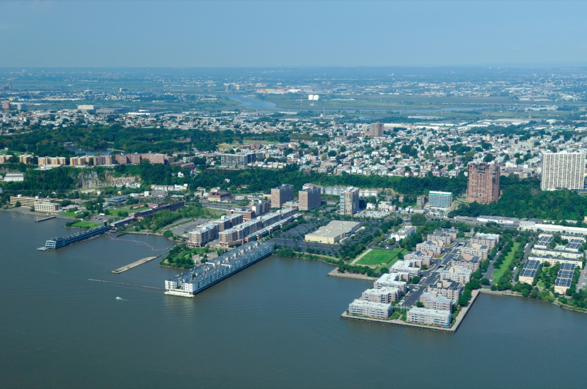 Aerial view of Edgewater and Fairview, New Jersey