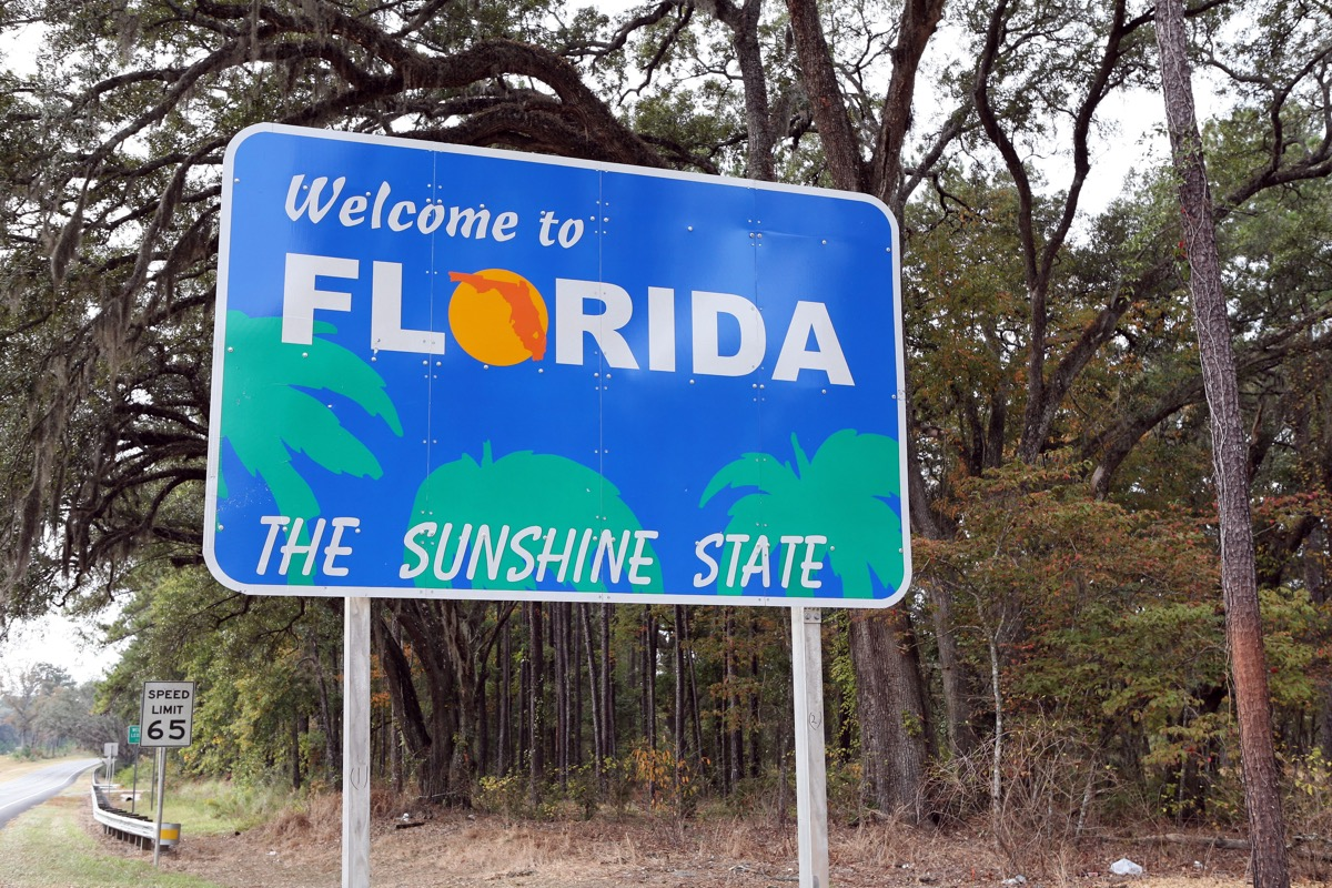 florida state welcome sign, iconic state photos