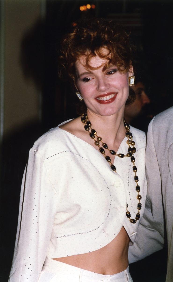 geena davis, 1990, vintage red carpet photos