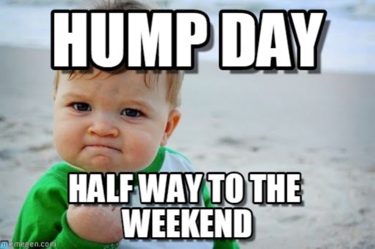 halfway to weekend meme, hump day memes