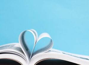 heart shape from pages in a book, beautiful words