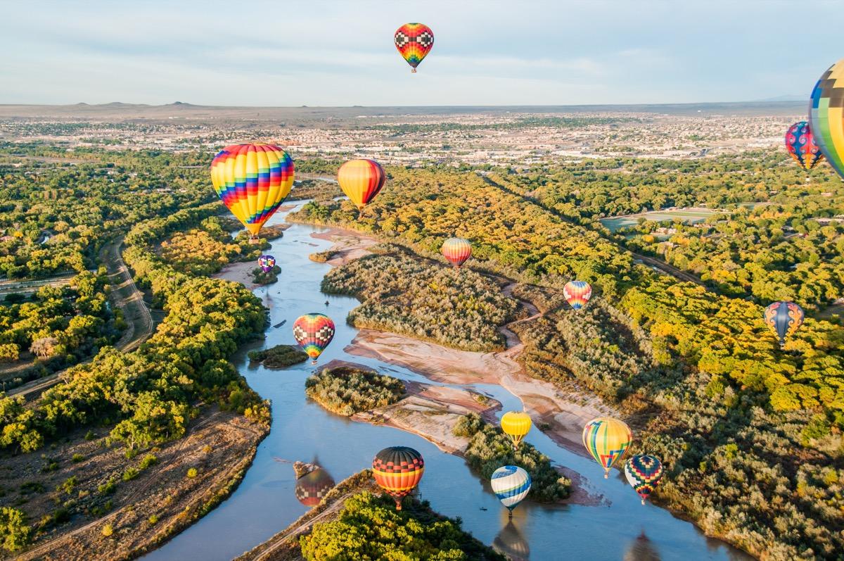 hot air balloon festival in albuquerque new mexico, iconic state photos