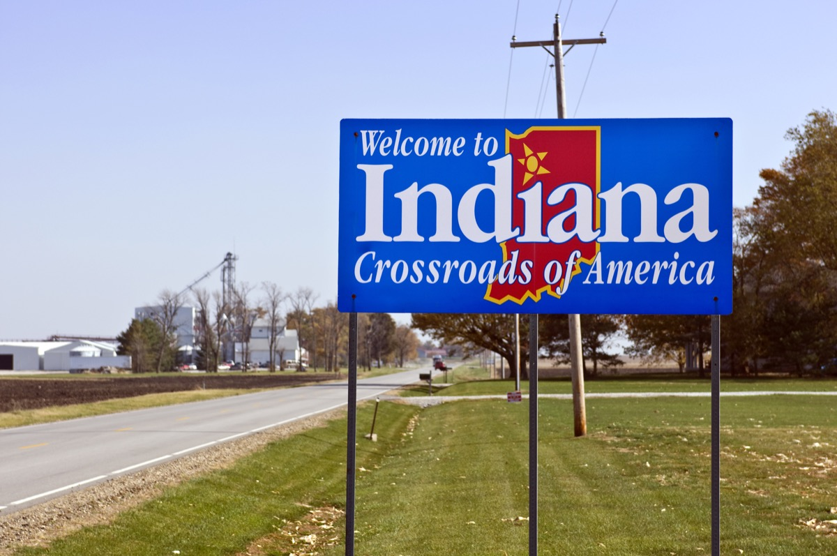 indiana state welcome sign, iconic state photos