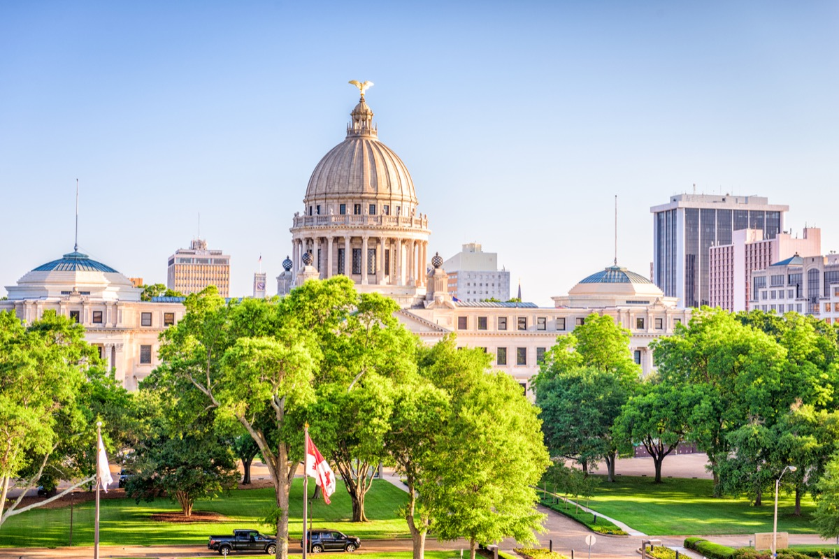 jackson mississippi, capital, most common street names