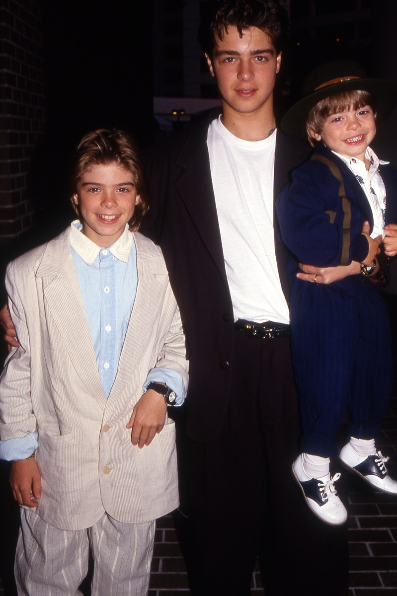 joey lawrence and his two brothers matthew and andrew, 1990s, vintage red carpet photos