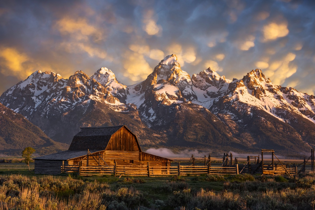 john moulton homestead in wyoming, iconic state photos