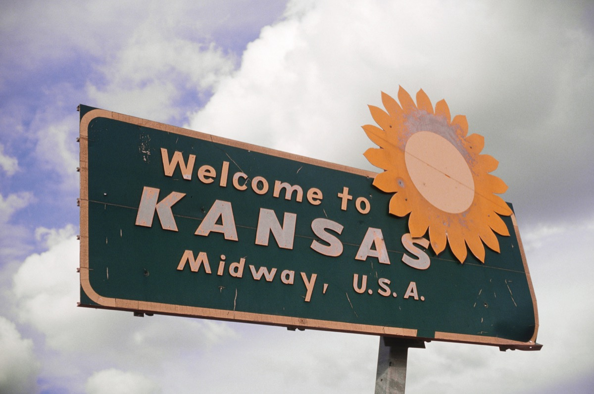 kansas state welcome sign, iconic state photos