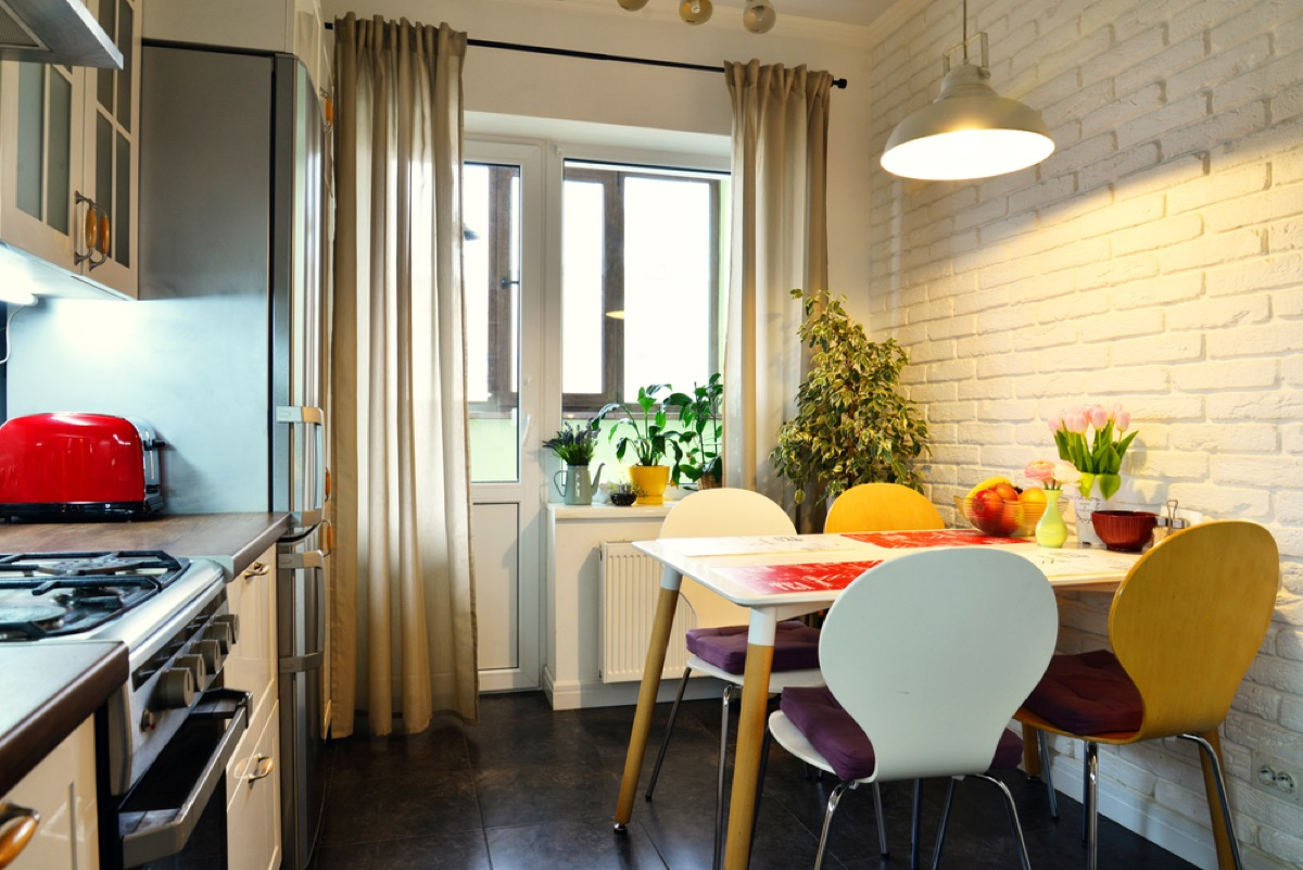 kitchen curtains, fire prevention tips