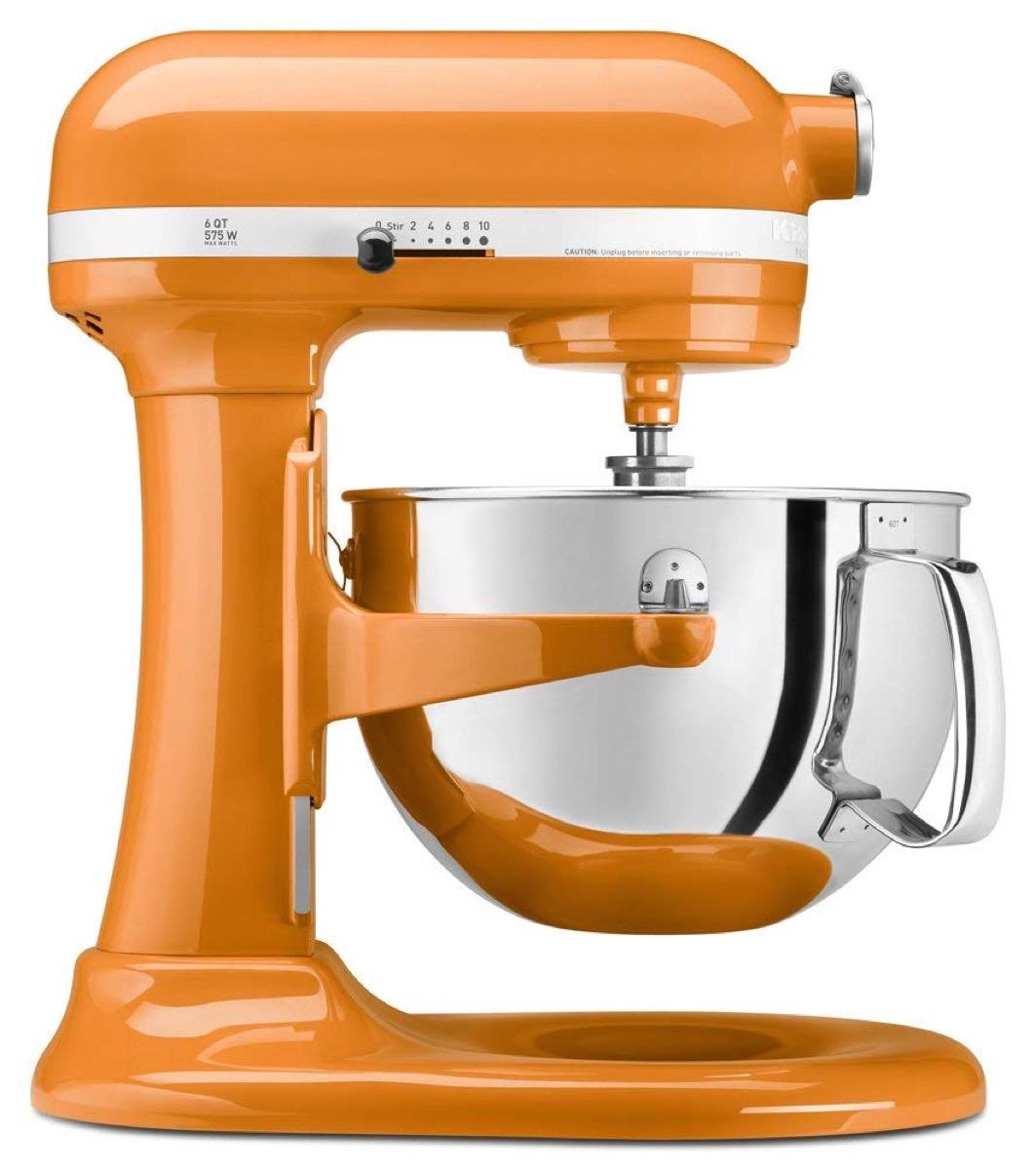 kitchenaid orange mixer appliances with cult followings