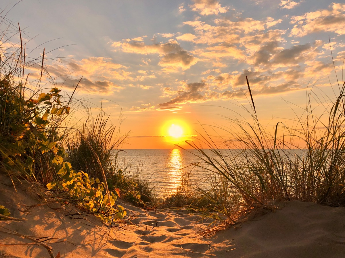 sunset in lake michigan, most common street names