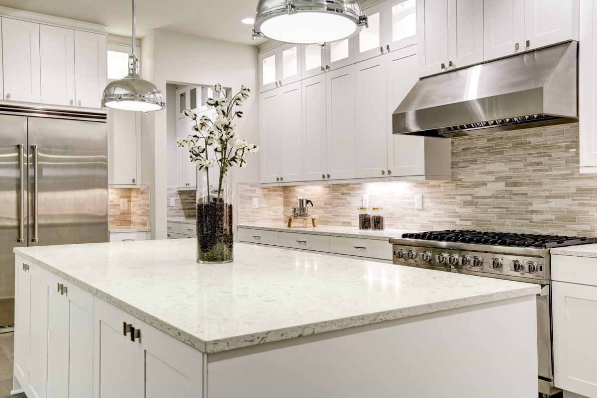 marble countertop in kitchen, home problems
