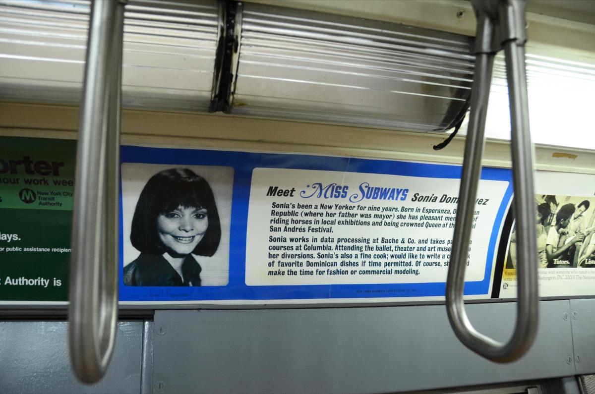 miss subway transit advertisement