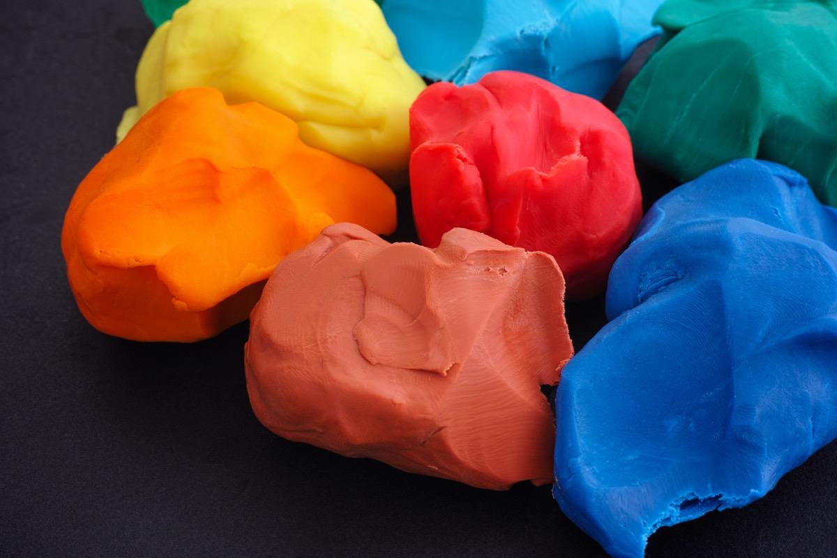 Colorful plasticine pieces