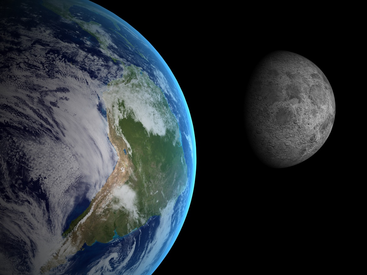 moon and earth in space, interesting facts