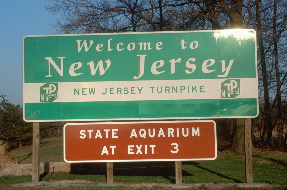 new jersey state welcome sign, iconic state photos
