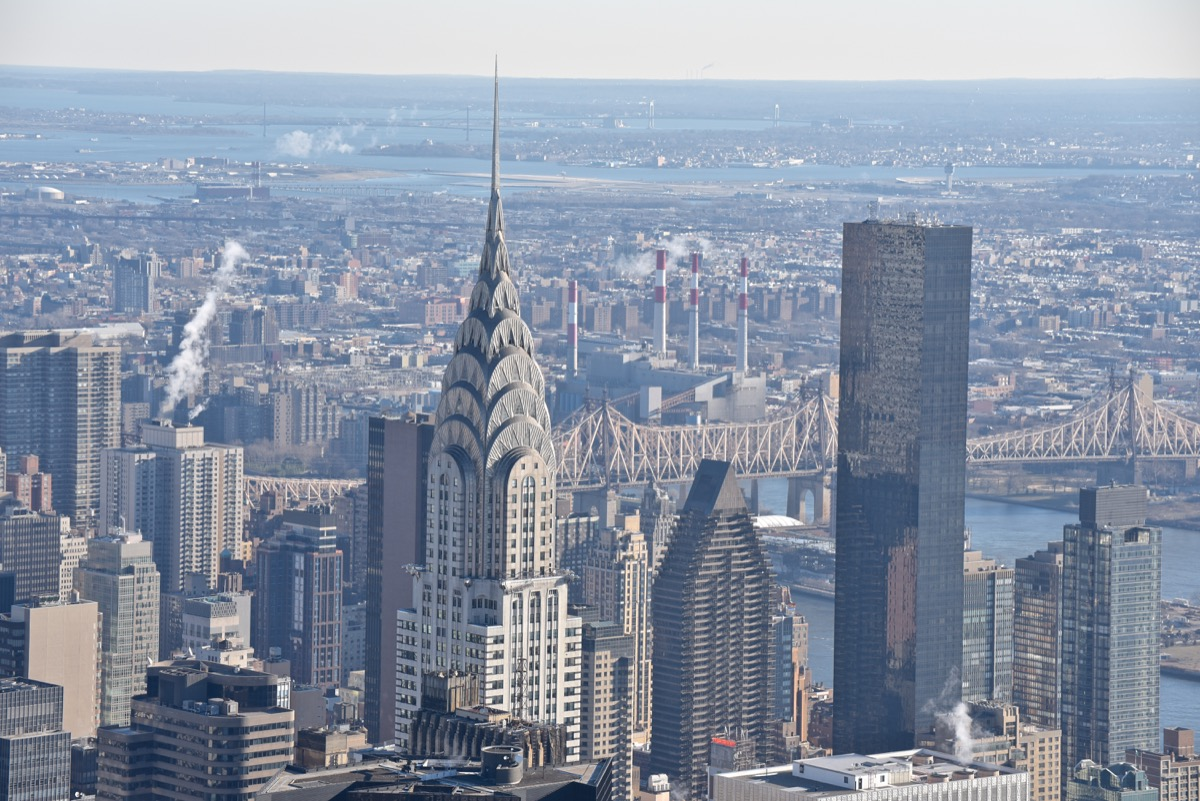 The New York Skyline with the Chrysler Building Privately Owned Landmarks