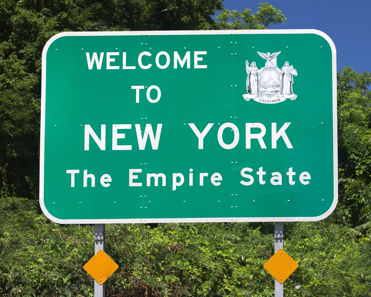 new york state welcome sign, iconic state photos