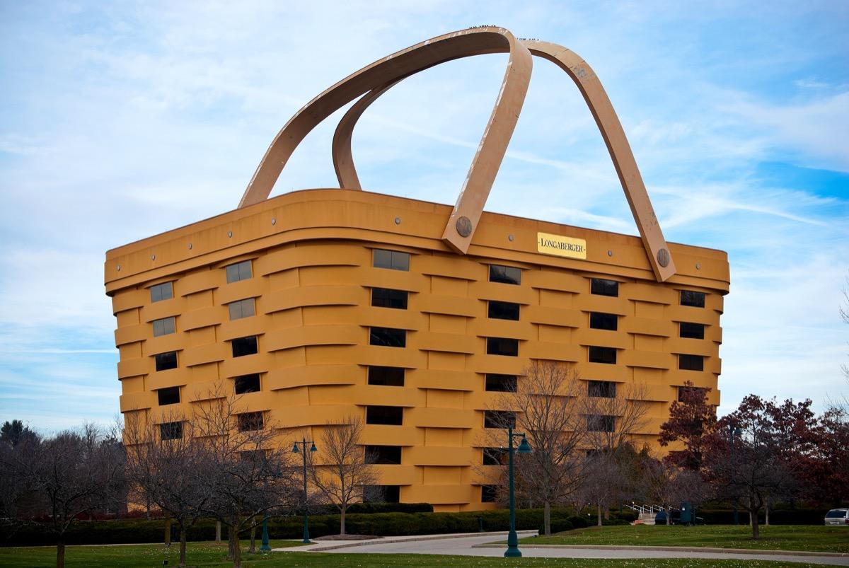 newark ohio Longaberger Company basket building, iconic state photos