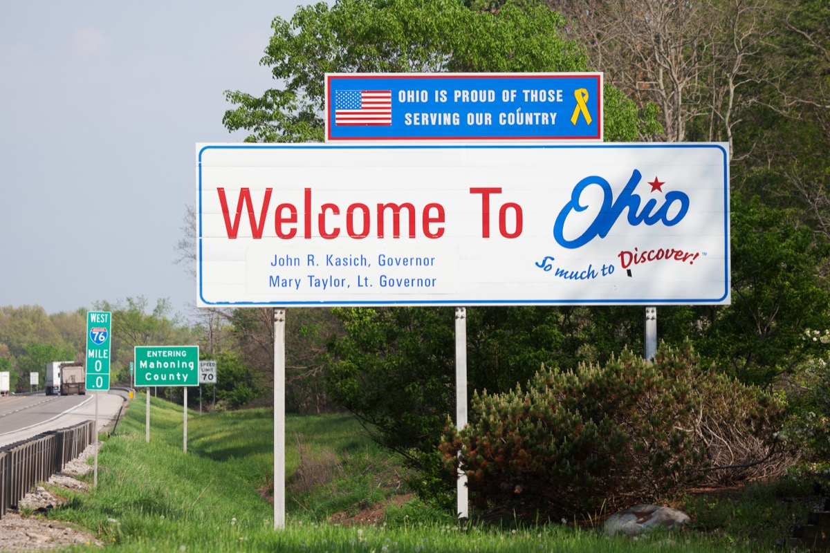 ohio state welcome sign, iconic state photos