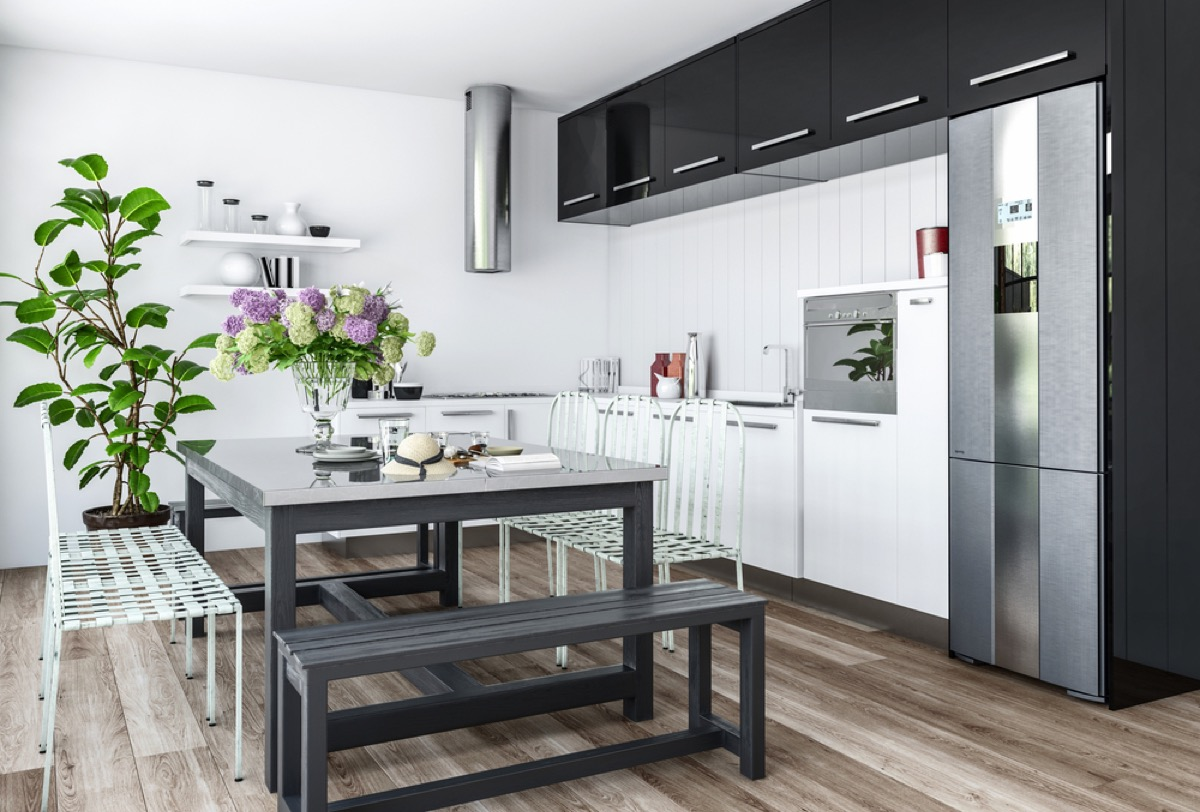 outdoor chairs in kitchen, home renovation cost