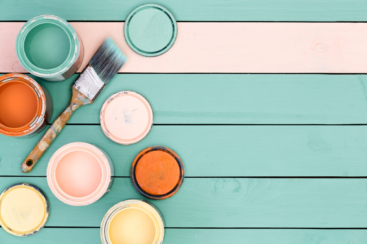 painted floorboards things to throw away