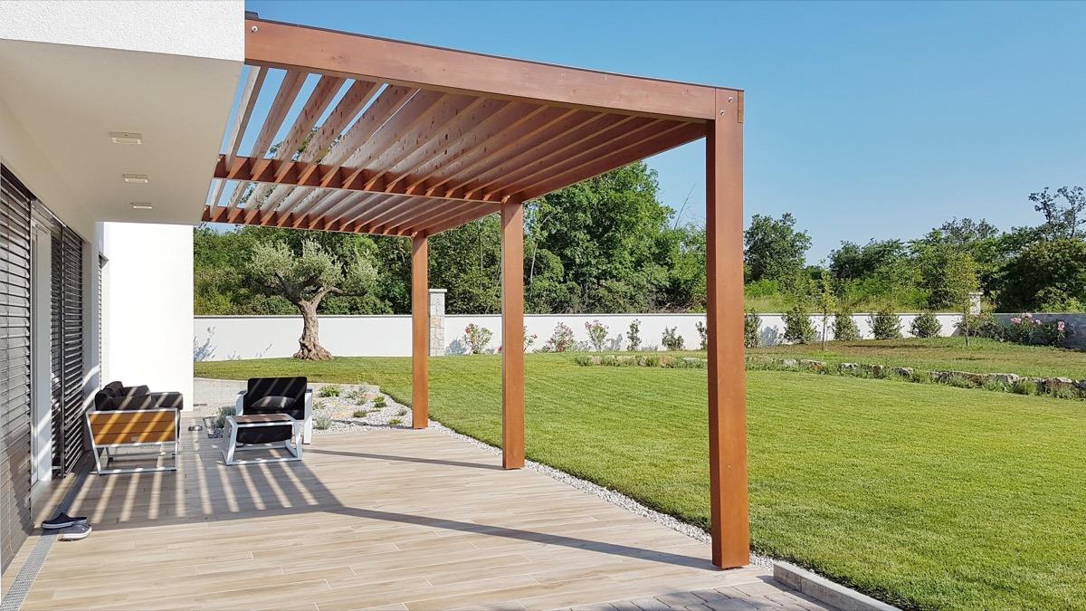 pergola outside house, downgrade upgrades worst home improvements