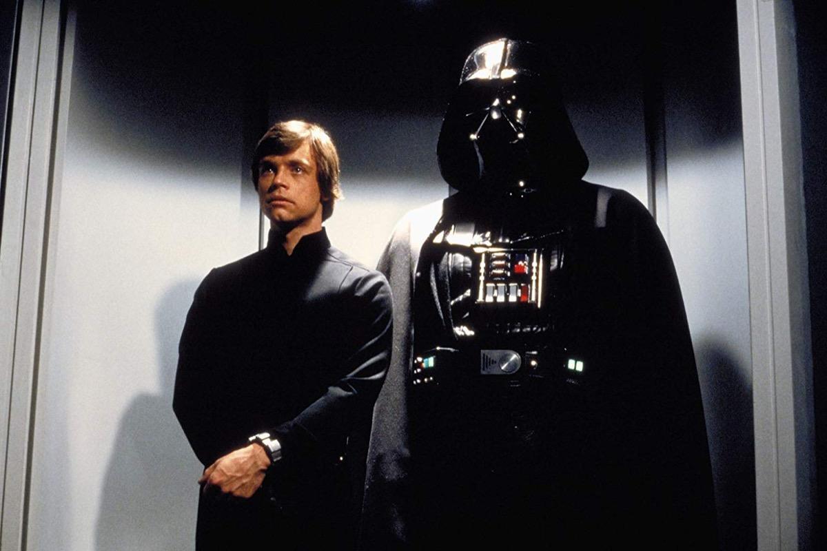 Luke Skywalker and Darth Vader, Return of the Jedi