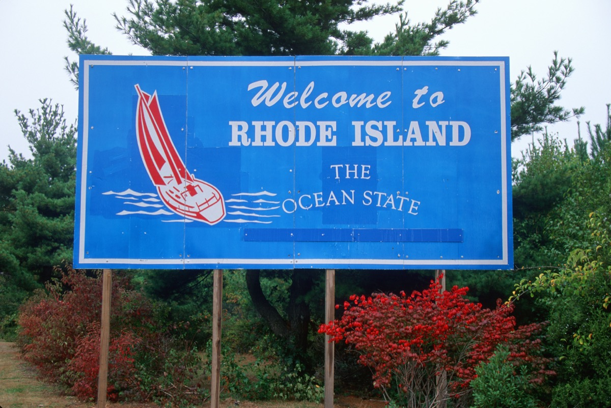 rhode island state welcome sign, iconic state photos