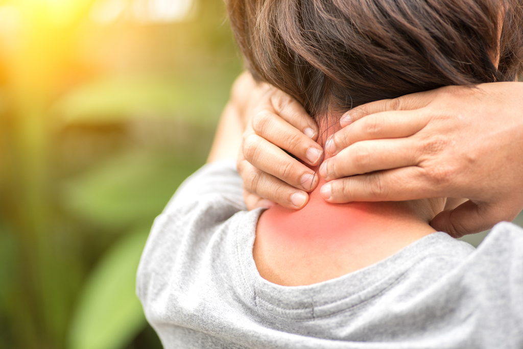 female neck pain