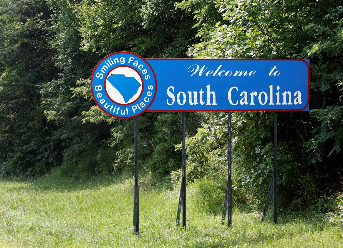 south carolina state welcome sign, iconic state photos