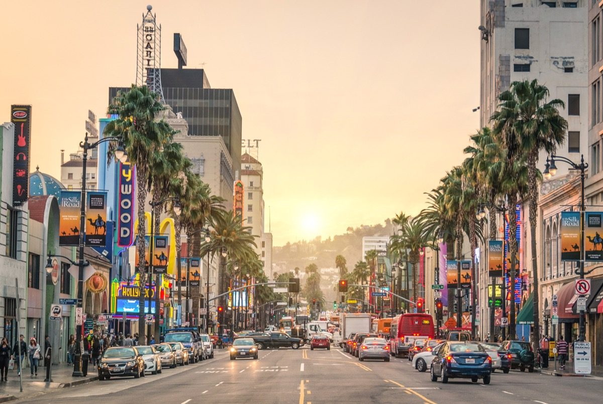 the sunset strip in hollywood california, the sunset boulevard in los angeles, most common street names