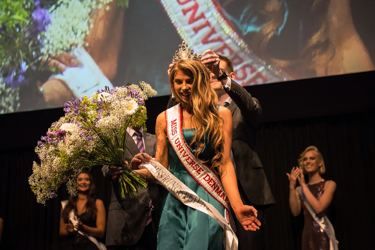 tall pageant contestant miss demark being crowned, pageant facts